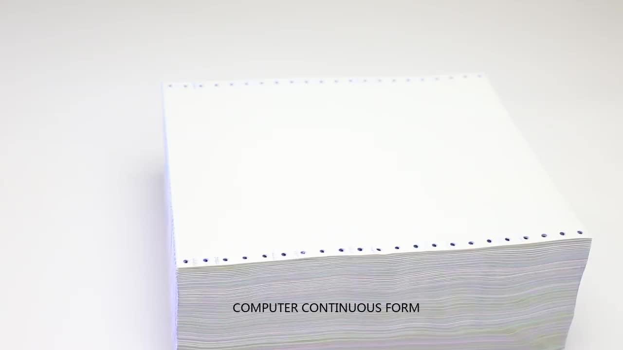 3-Ply Computer Continu Zelfkopiërend Printing Papier Computer Papier Voor Kantoor