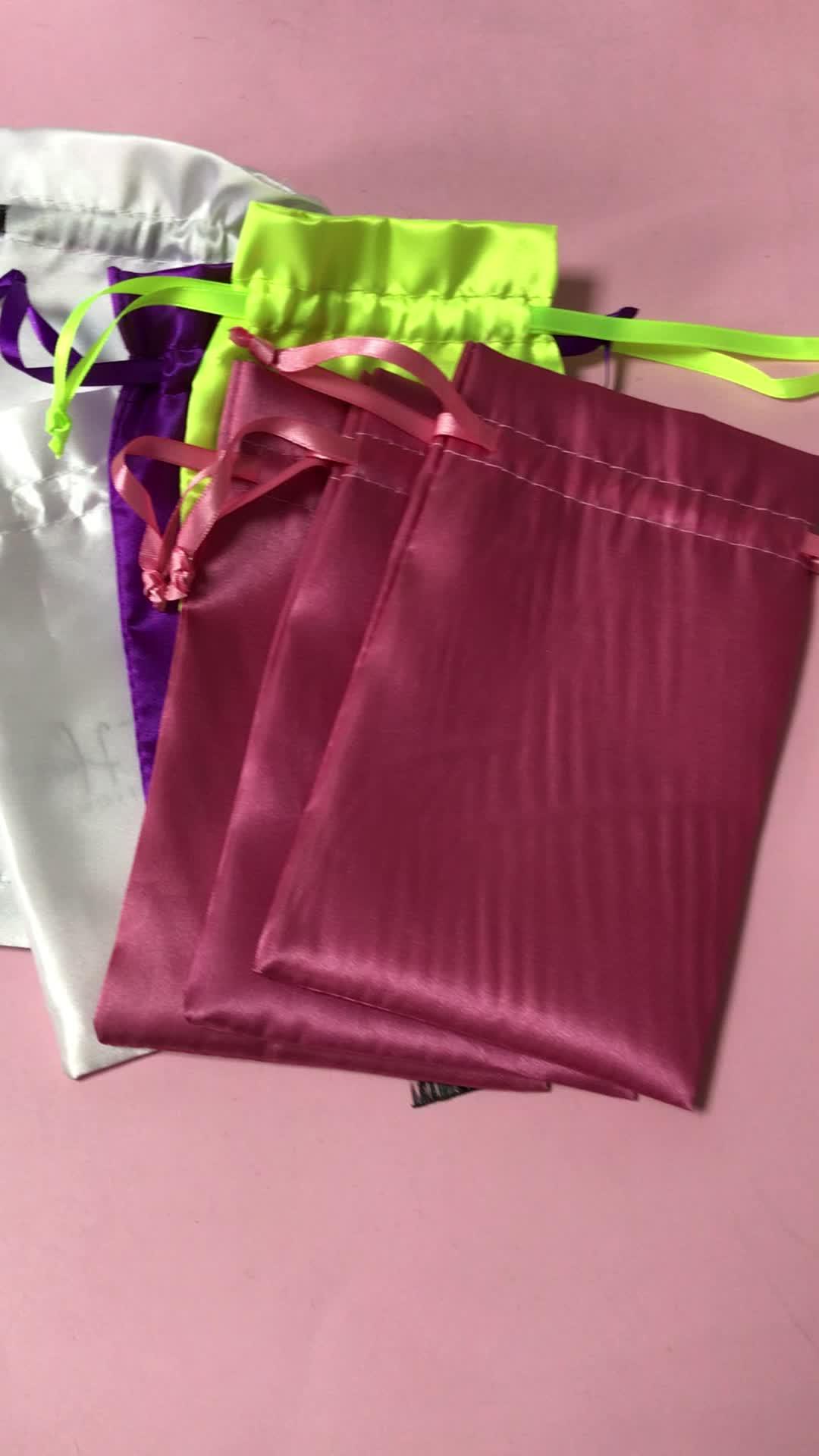 En gros soie tissés sacs d'emballage pour les extensions de cheveux