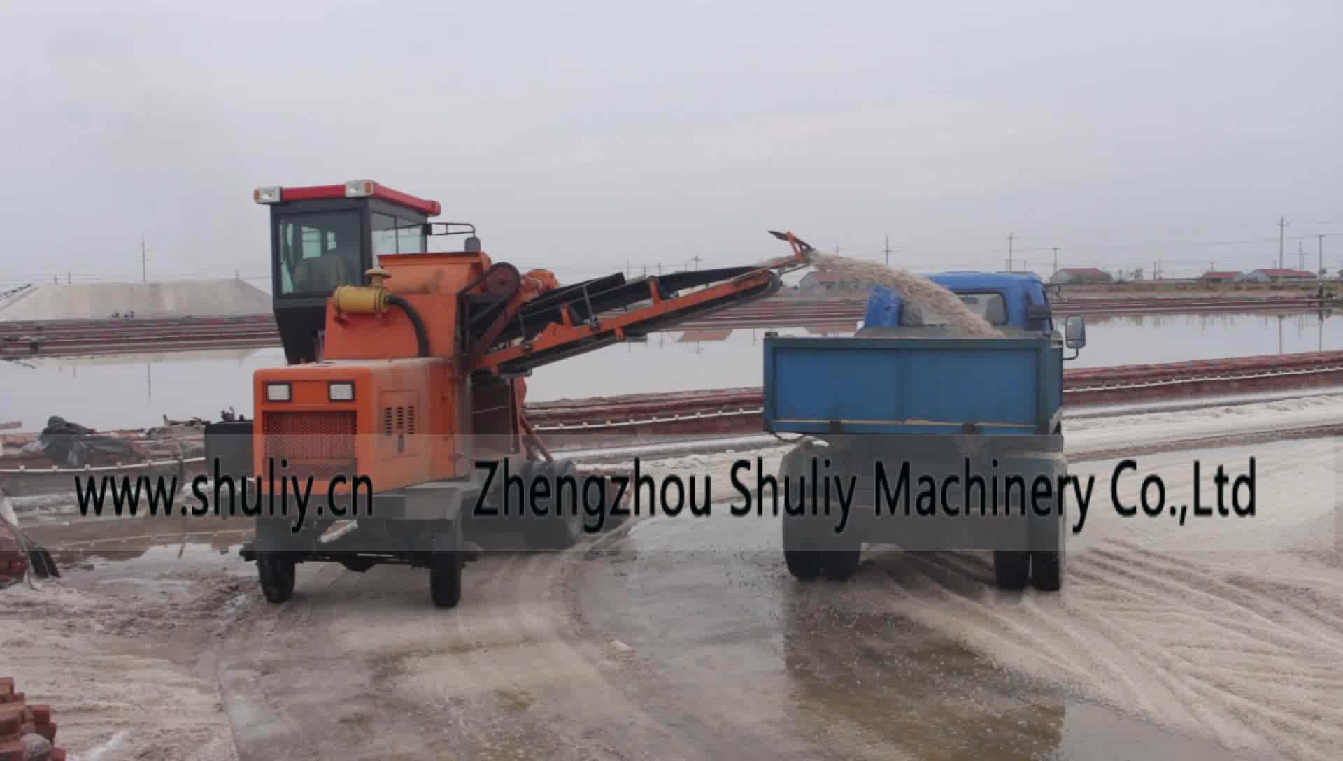 Shuliy sal máquinas para la cosecha de sal de mar crusher y cosechadora de sal de mar combinar recoger máquina