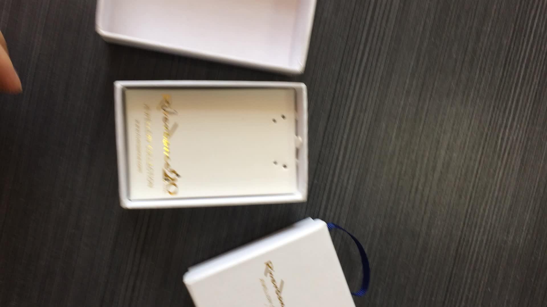 कस्टम डिजाइन सादे गत्ता कागज के गहने पैकेजिंग विंटेज काले रंग की अंगूठी बॉक्स