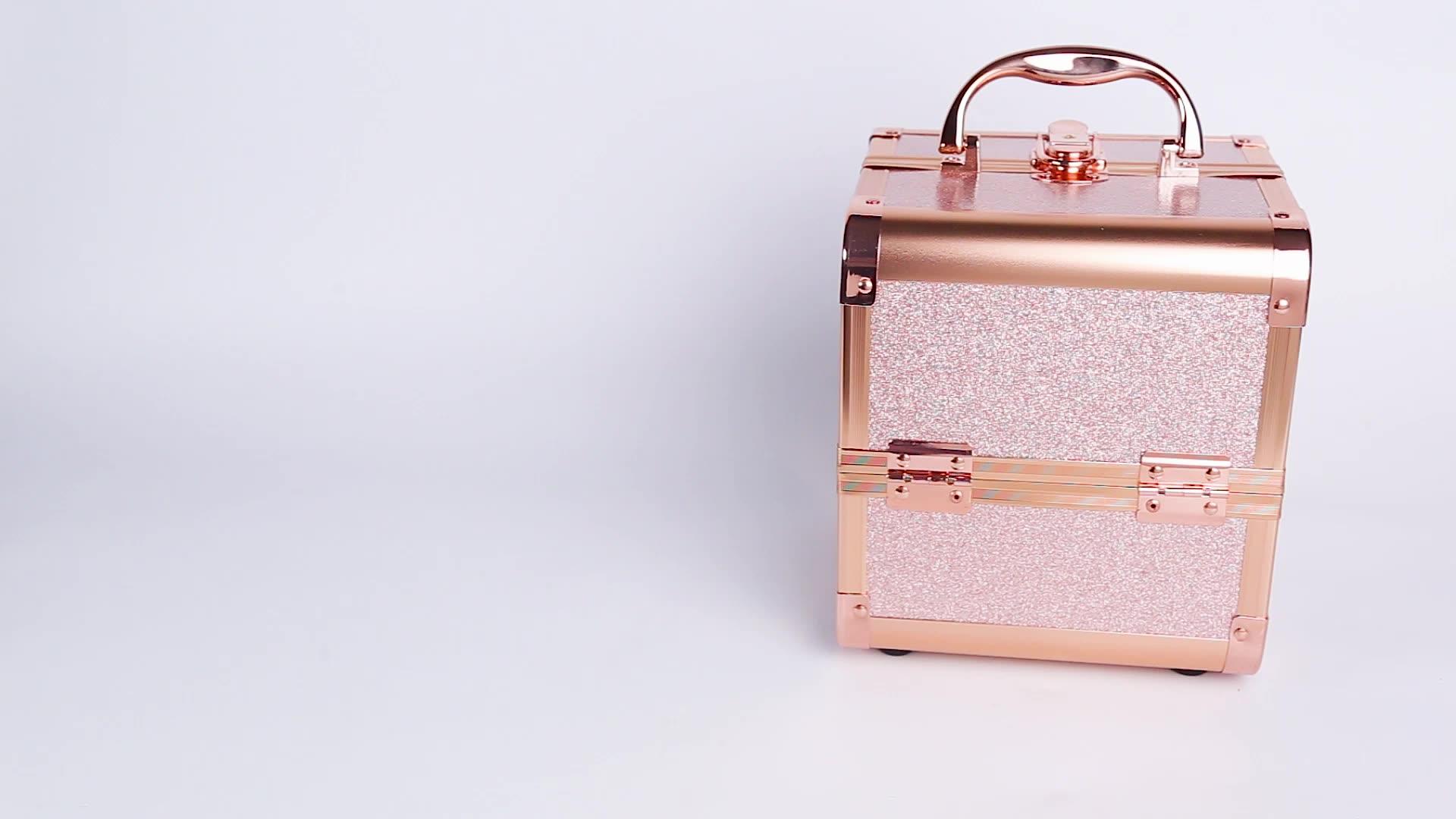 Keyson alluminio box cosmetic makeup artist train kit caso