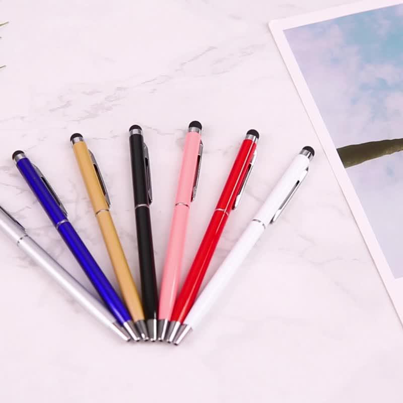Multifunctionele Metalen Aluminium Touchscreen Balpen Custom Logo Slanke Zwarte Stylus Touch Pen voor Telefoon en Tablet PC