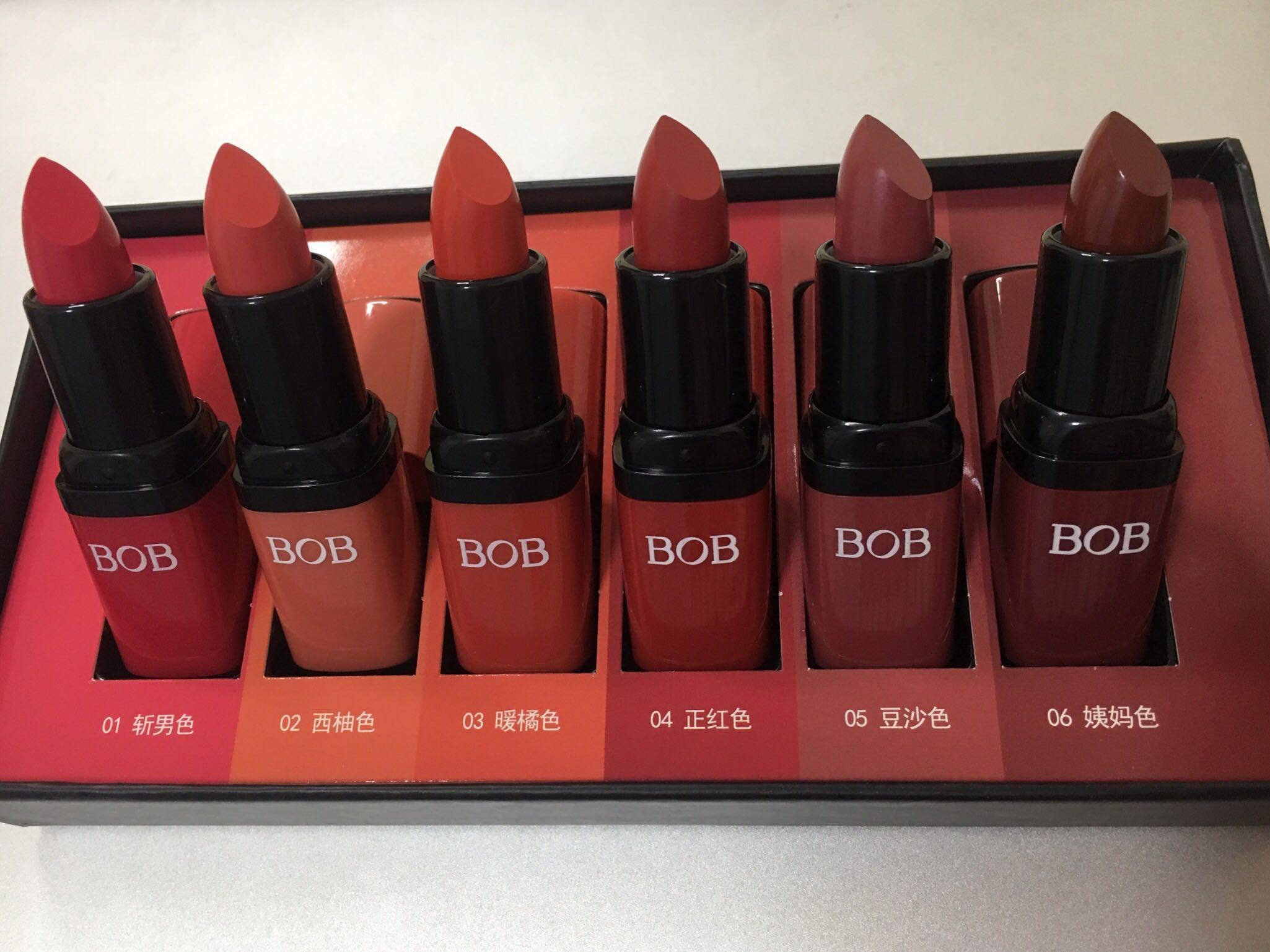 BOB口红套装6种色号实拍