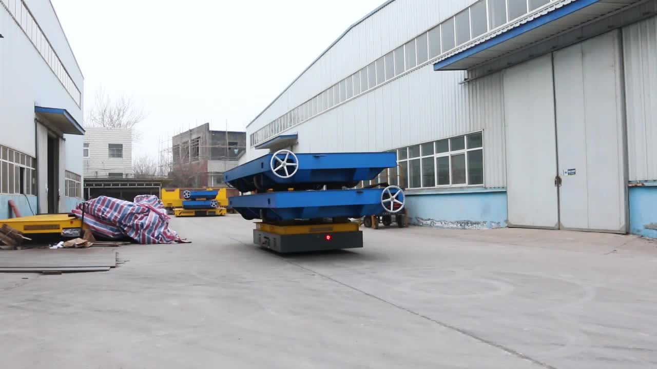 Battery Electric Trackless Platform Production Line Transfer Cart 10 Ton