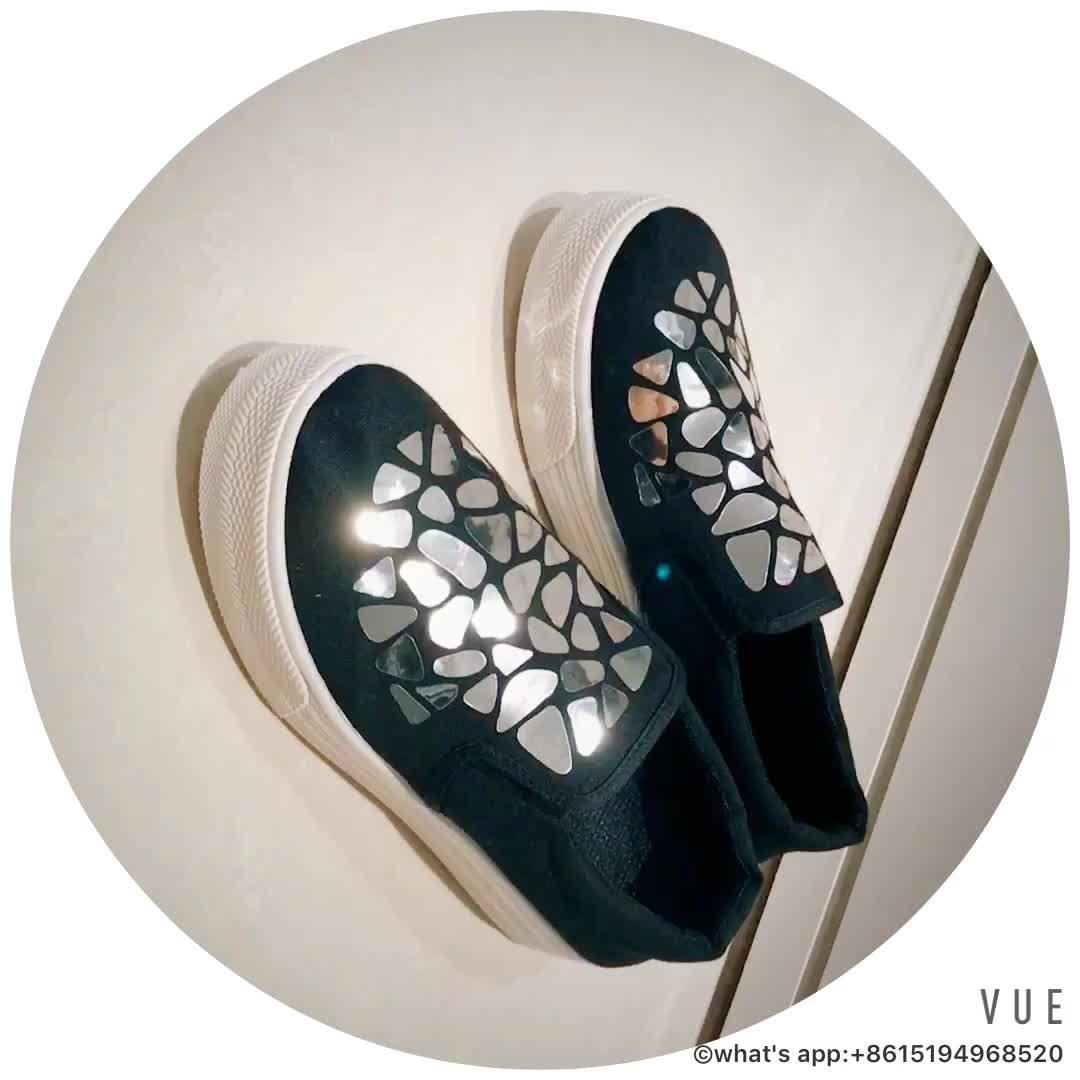 Dernière conception de mode mignon décontracté école femmes chaussures