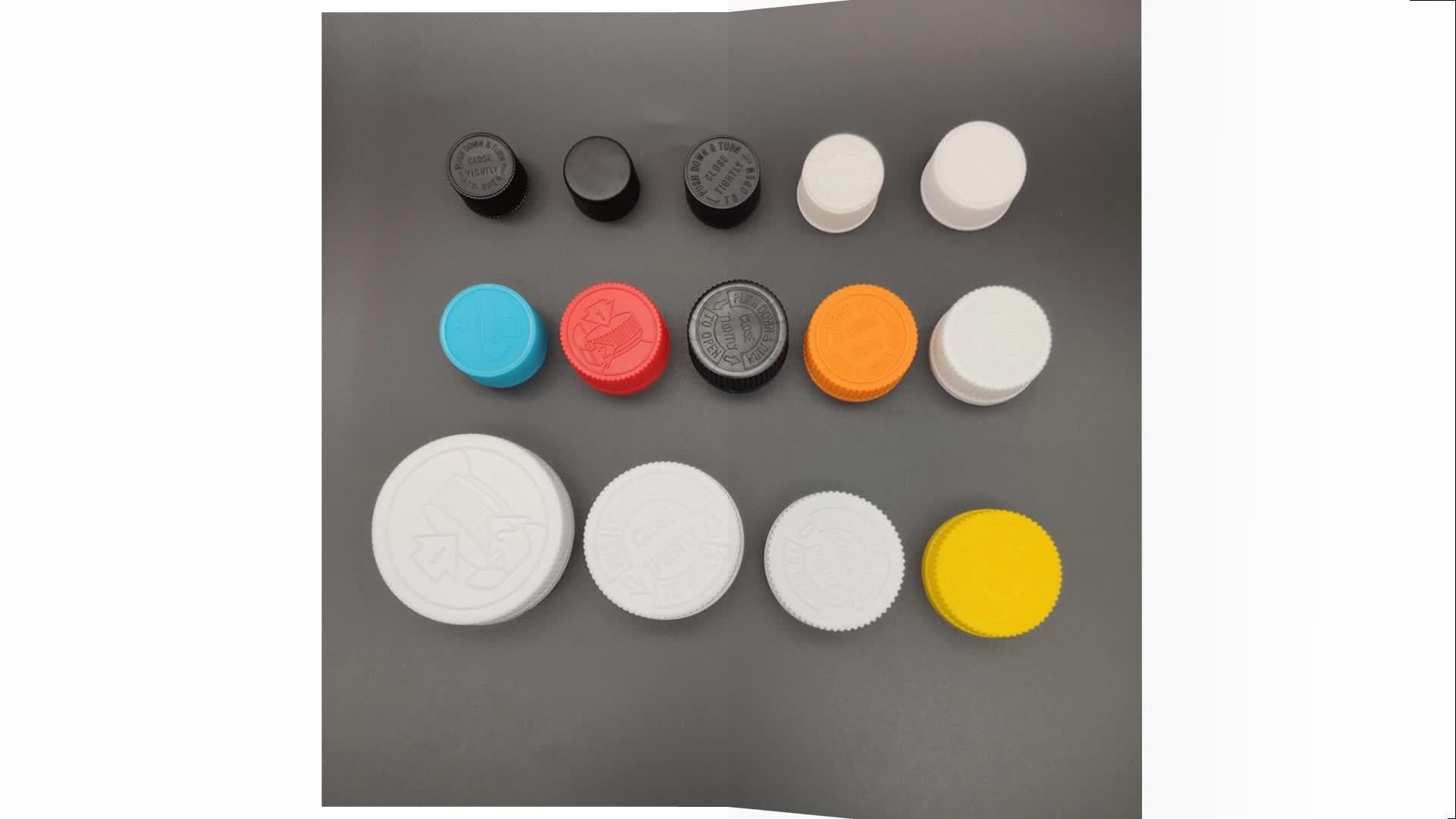 43mm plastic Child Resistant Cap CRC white screw cap
