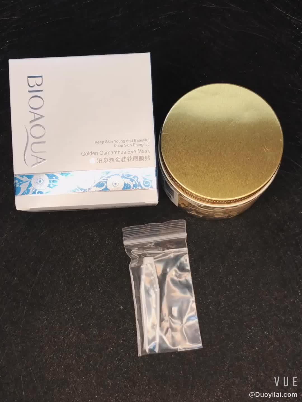 Wholesale Personalized BIOAQUA 80 Pcs Gold Osmanthus Collagen Skin Care Eye Mask