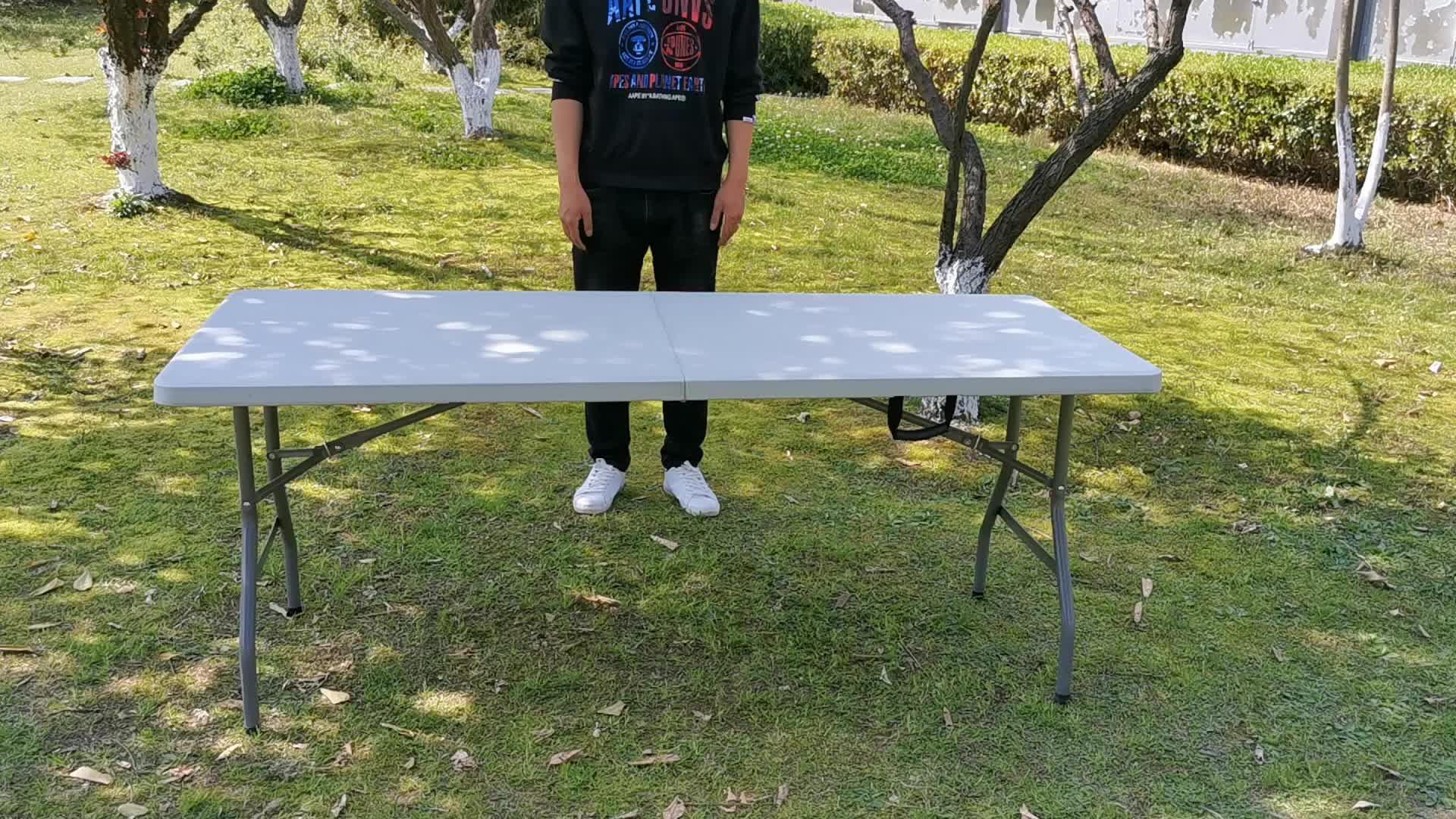 Camping tisch, 6ft kunststoff klapp halbe tisch | 1,8 M kunststoff klapp esstisch