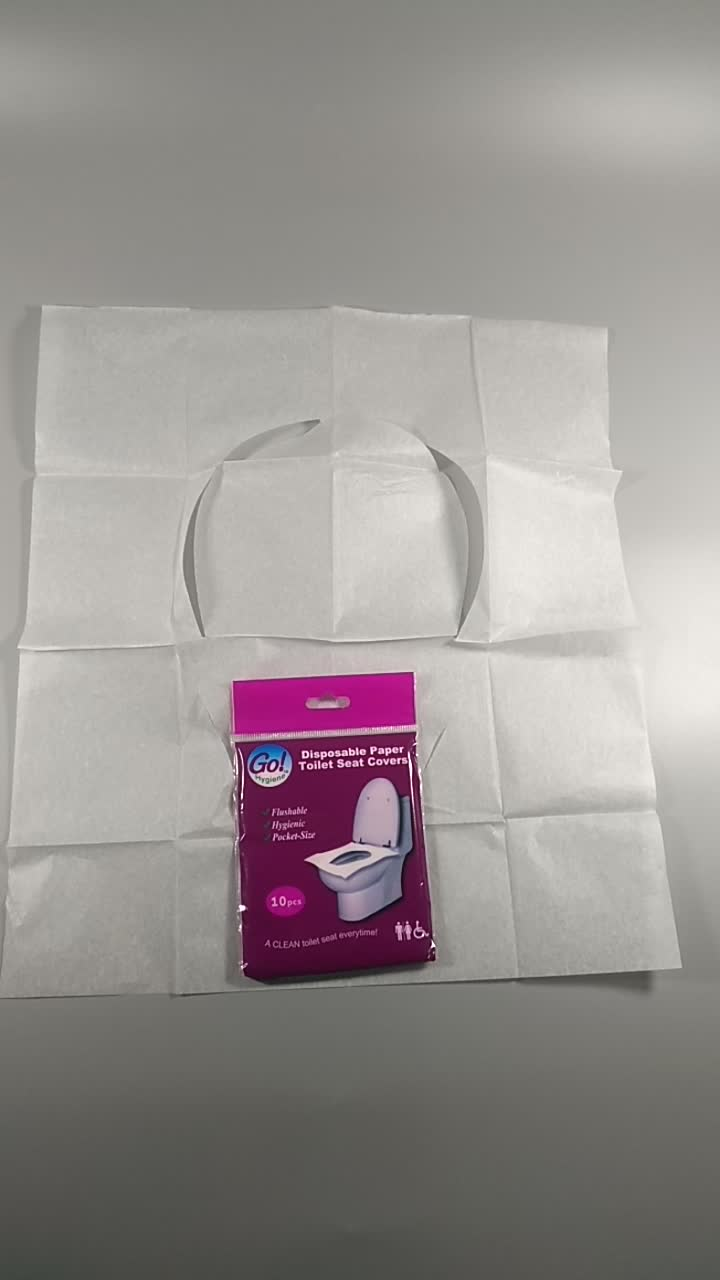 10 pieces Disposable Sanitary Paper 1/16 fold Toilet Seat Covers