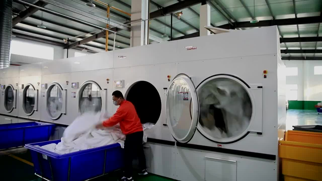 18 กก.25 กก.30 กก.50 กก.70 กก.100 กก.อุตสาหกรรม Tumble dryer เครื่องซักรีดเครื่องราคา commercial LAUNDRY Equipment