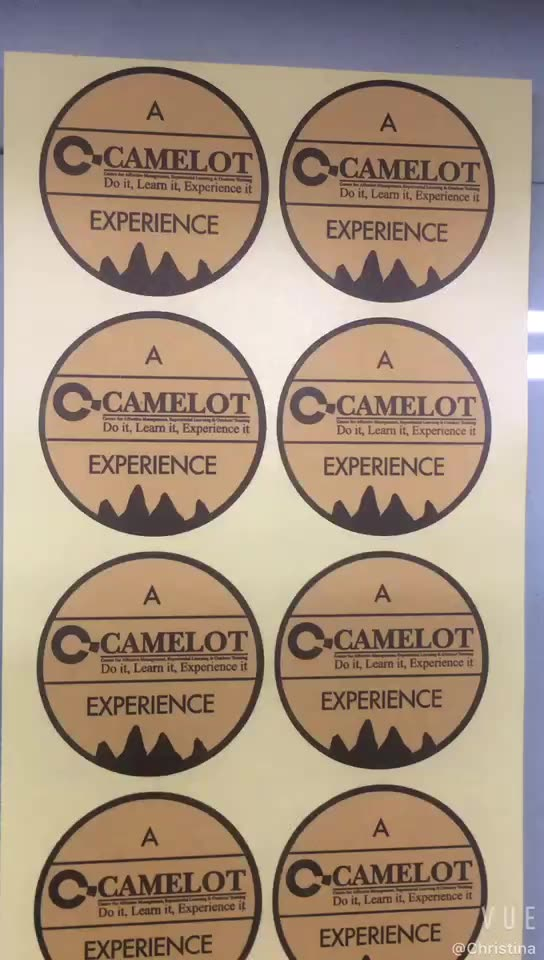 Customized brown kraft paper logo round adhesive label sticker  for promotion or package