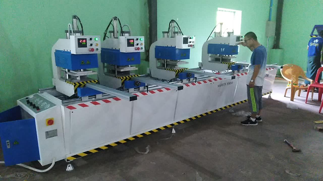 Four head welding UPVC window making machine