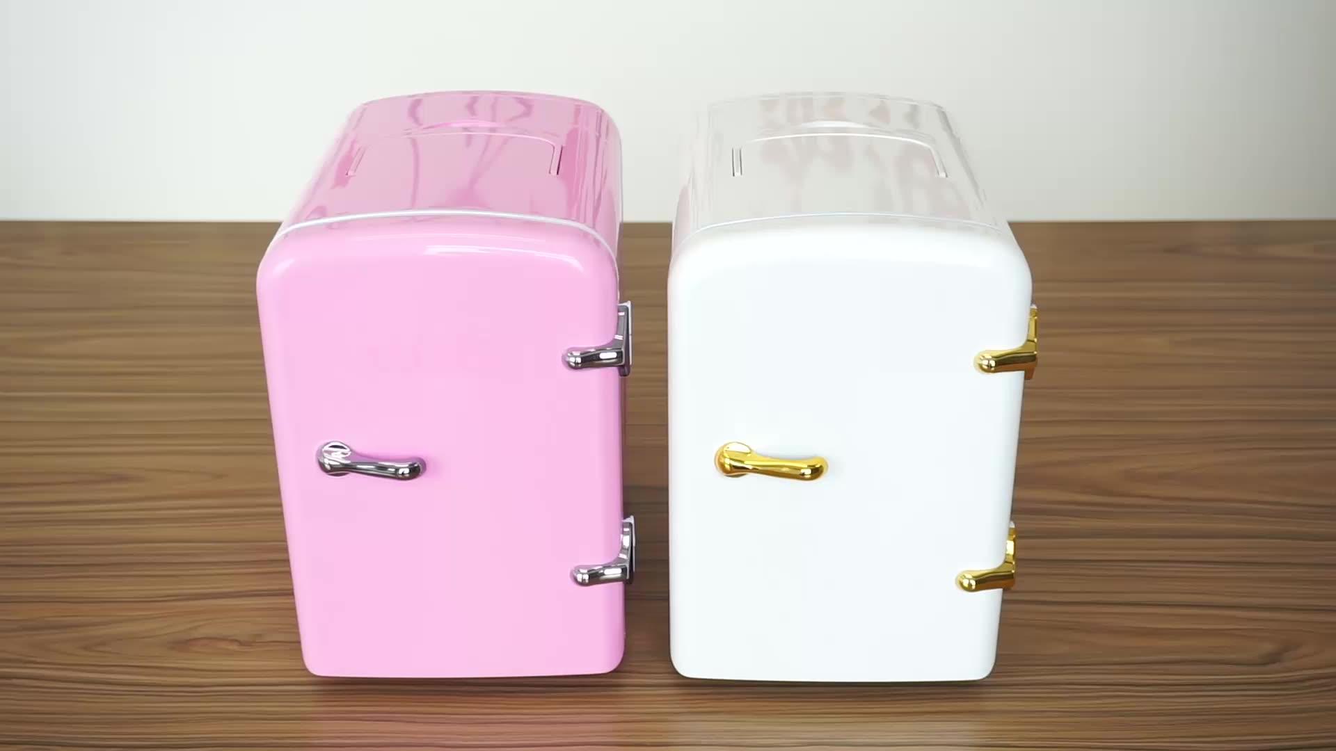 Nach 12V 24V heißer kalten büro mini kühlschrank 4 liter kleine größe kosmetische hautpflege kühlschrank
