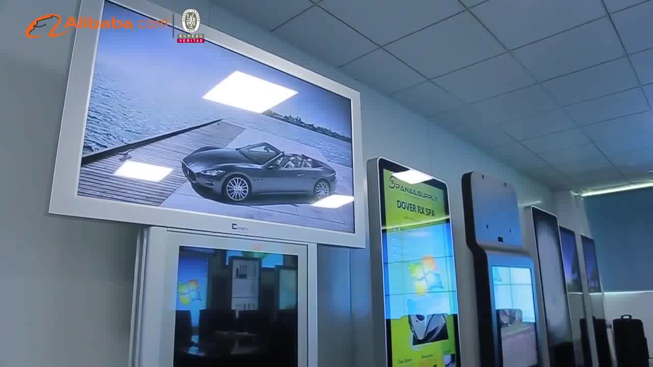 27 inch video photo rolling text advertisement open frame lcd digital signage
