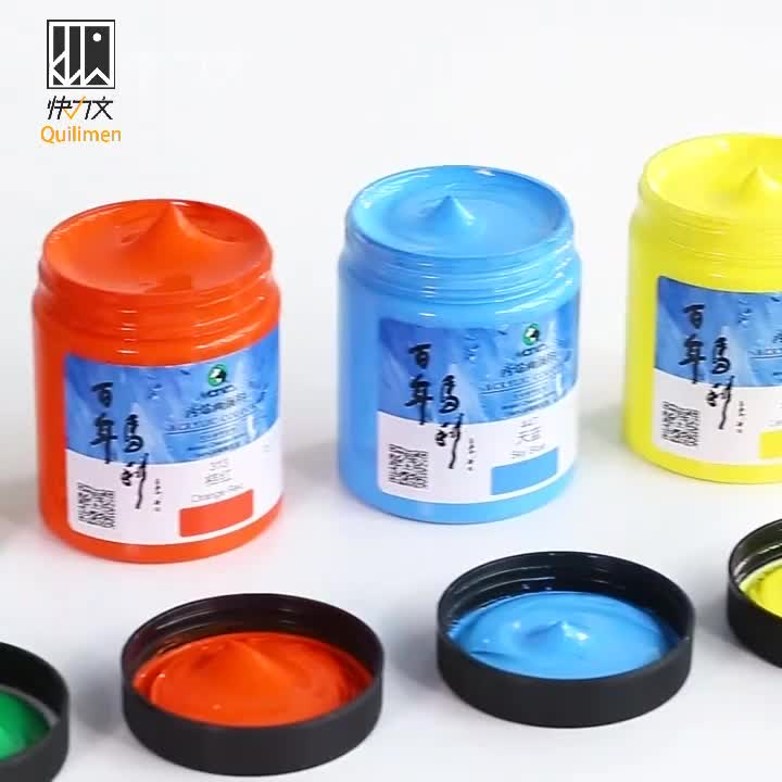 100/300/500ml best selling assorted colors barrel art oil/acrylic paint set for canvas/wood/glass/ceramic/fabric