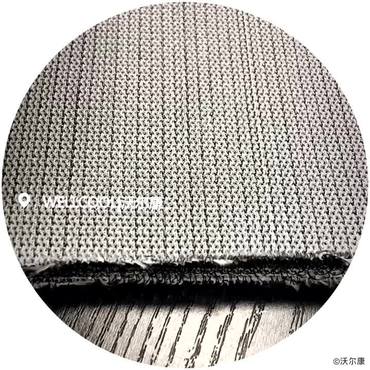 Knitted 100% polyester spacer mesh fabric for 3d golf practice mat