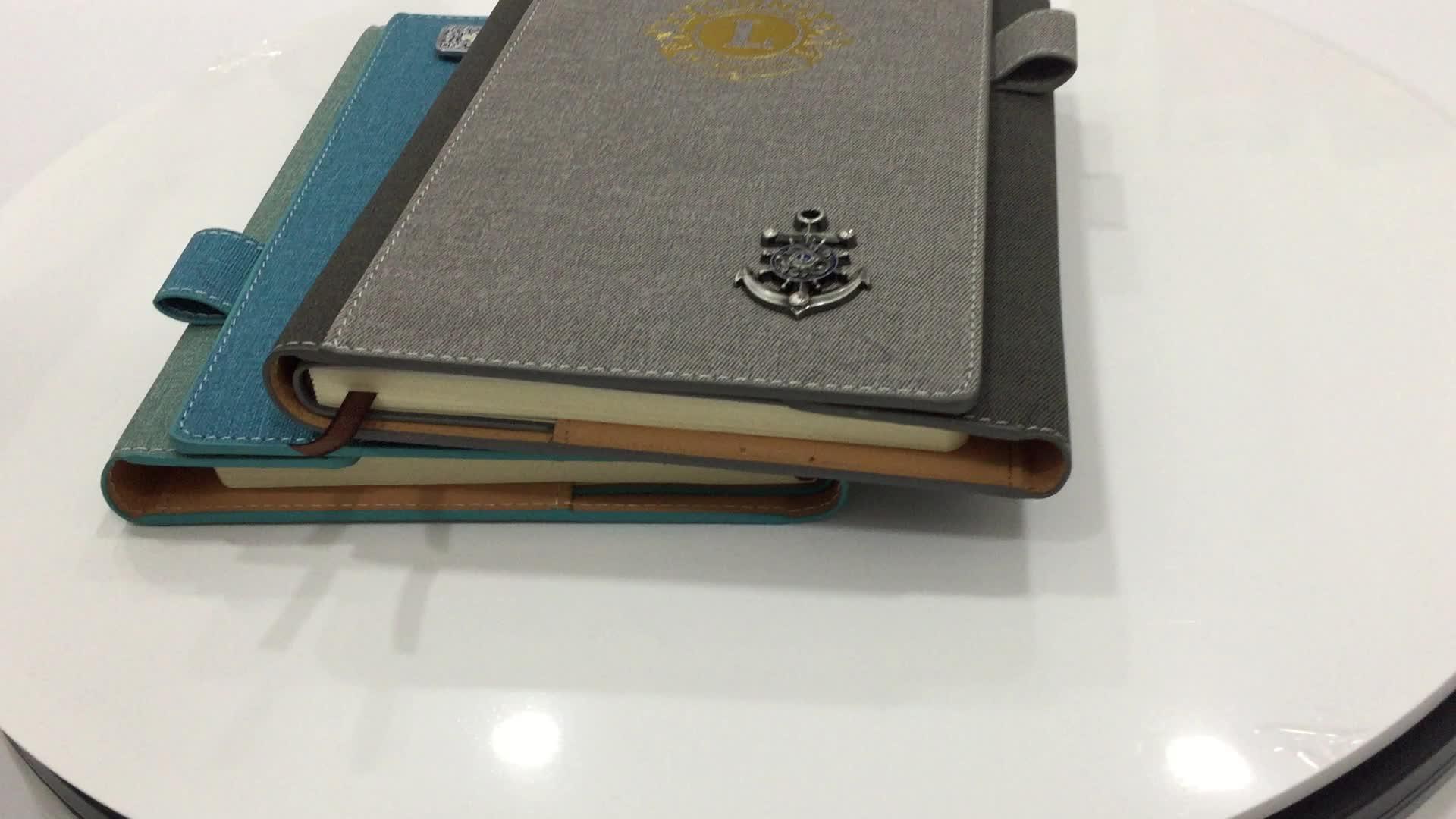 Feitos sob encomenda baratos livro diário notebook impressão na China A5 caderno de bolso capa de couro