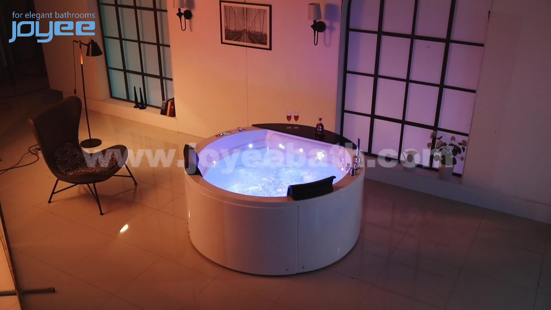 JOYEE pur acrylique luxe jacuzzi/spa/bain à remous jacuzzi baignoire apollo massage autoportant trempage baignoire avec jet à bulles d'air