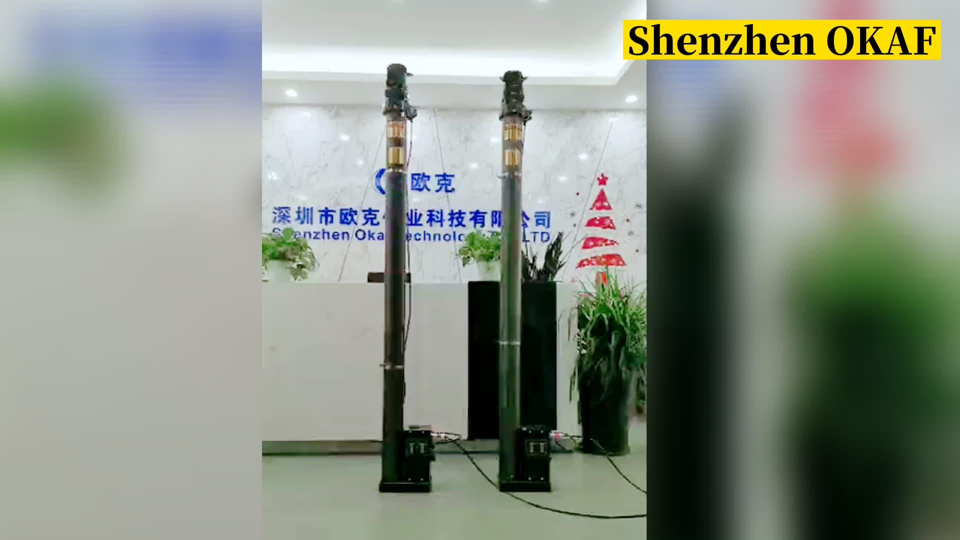 3M-20M electric 足球投注网 mobile surveillance pole antenna mast
