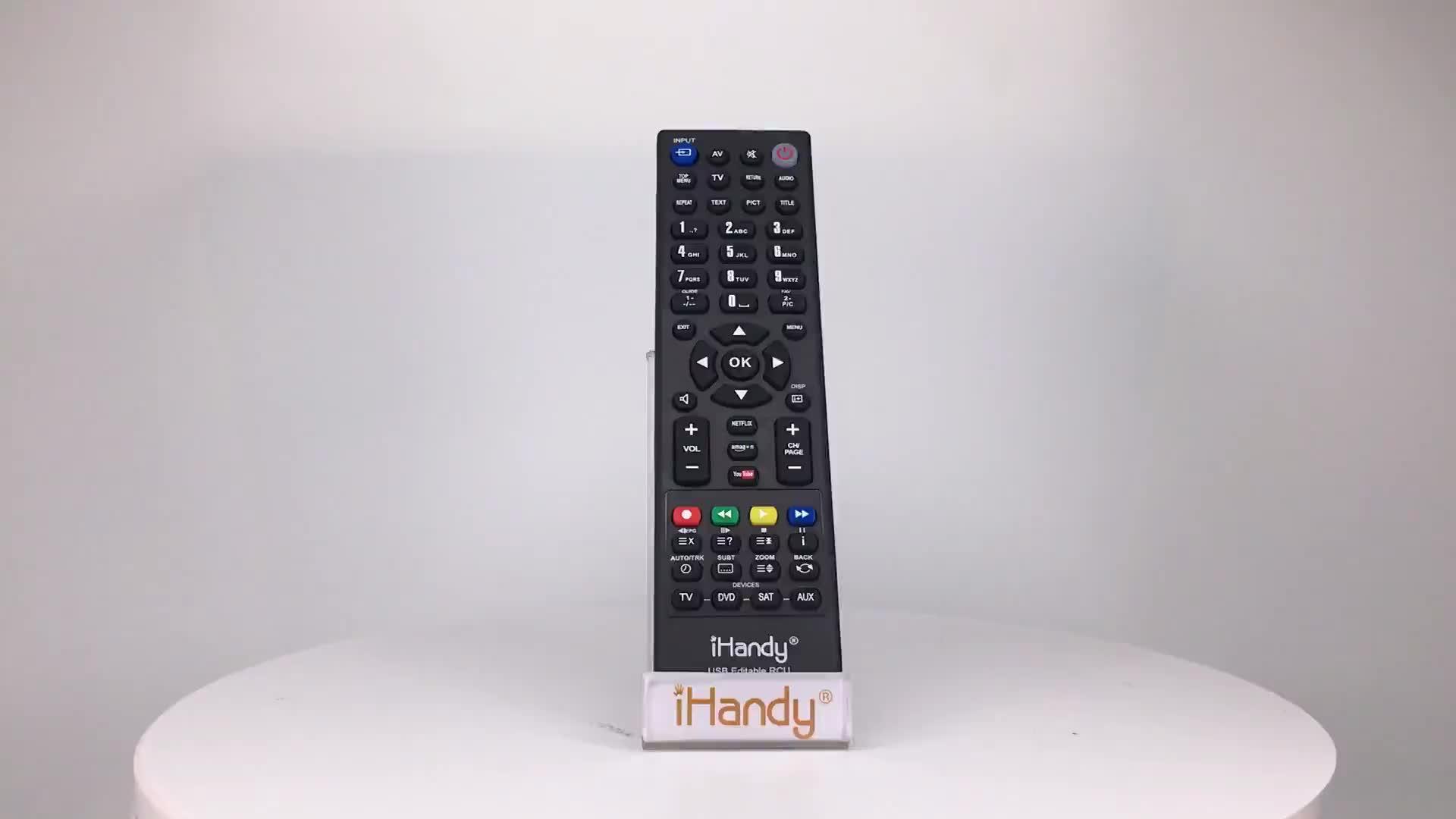 SYSTO iHandy USB 편집 4:1 원격 적합 forTV DVD SAT AUX 학습 USB 프로그래밍 가능 원격