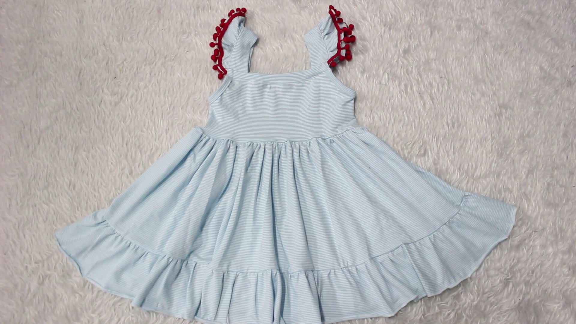 Nuovo Design Europeo Stili Del Bambino della Molla Delle Ragazze Top A Manica Lunga Del Fumetto Stampato del Vestito Della Bretella