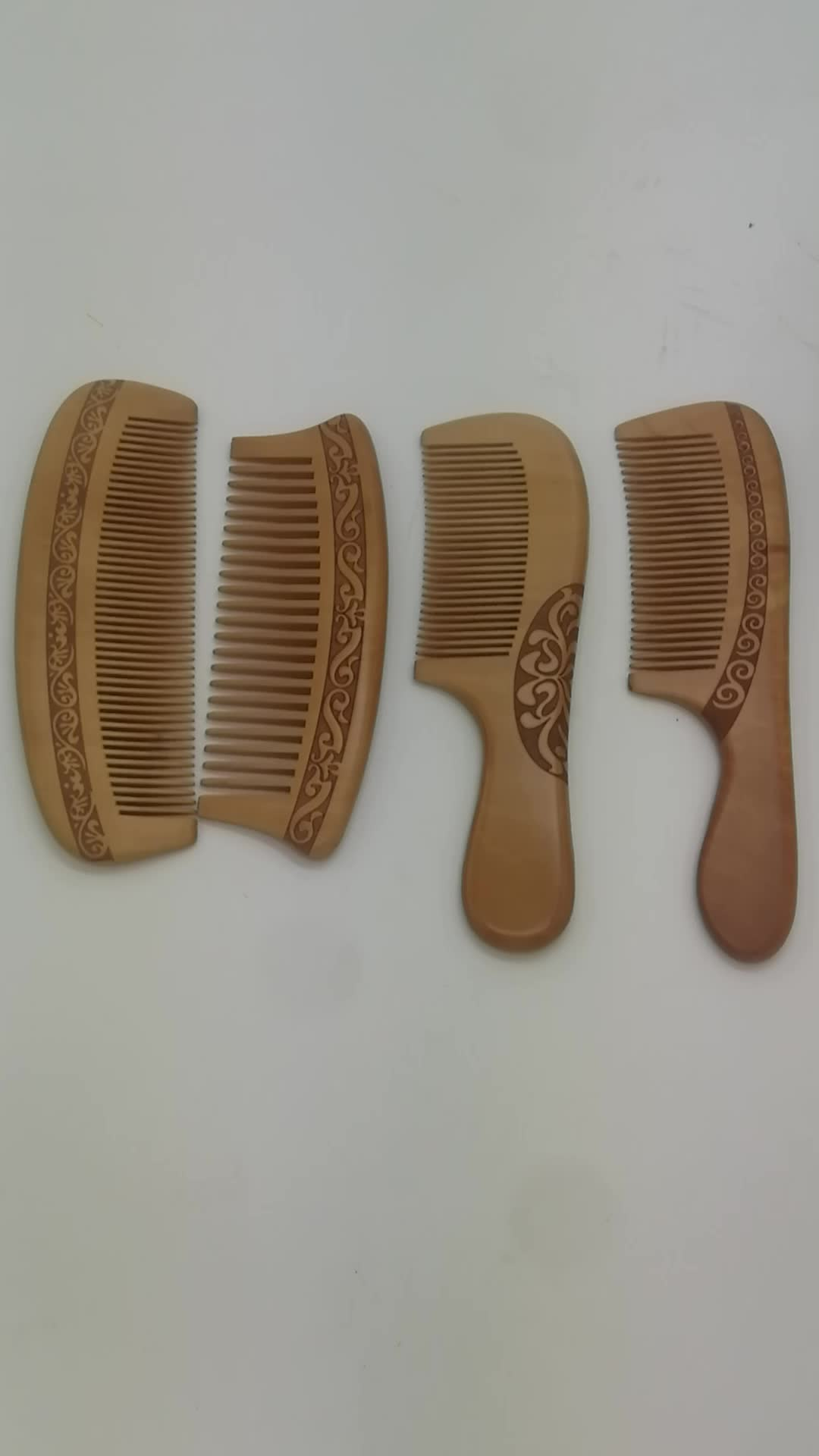 Wood Comb For Man and Woman Antistatic Massage HairBrush Fine Tooth Long Handle Natural Wood Hair Comb