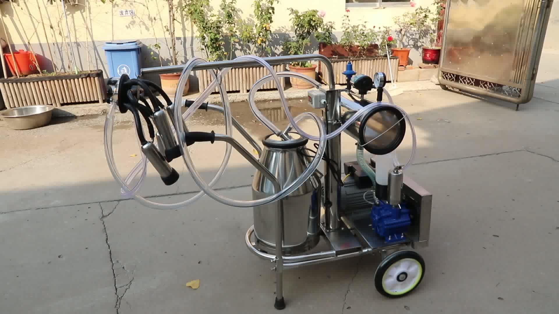 YZ-1 उच्च गुणवत्ता स्टेनलेस स्टील पोर्टेबल गाय दूध देने की मशीन