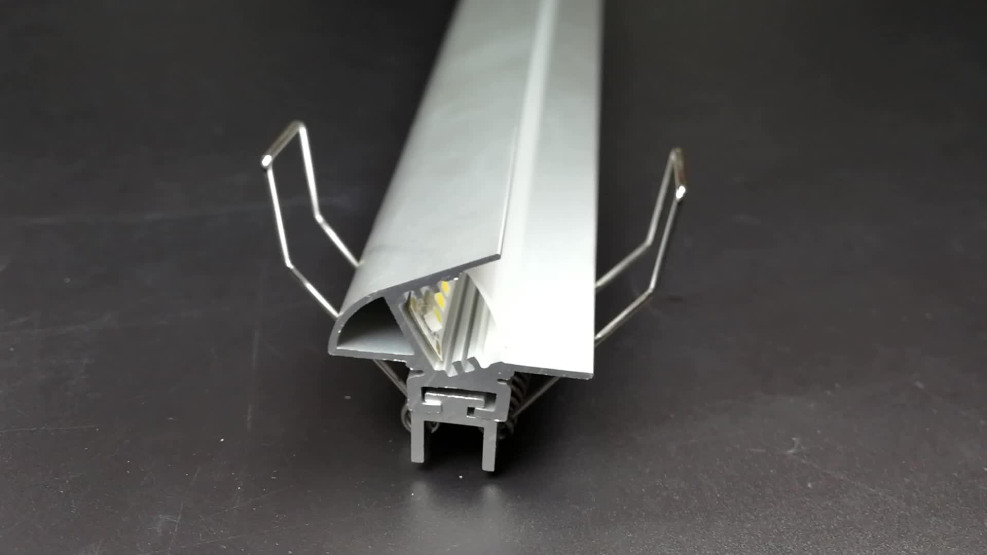 Adjustable Extruded Aluminium led profile AL6063 Led aluminum profile LED alu Channel profile for Room floor lights