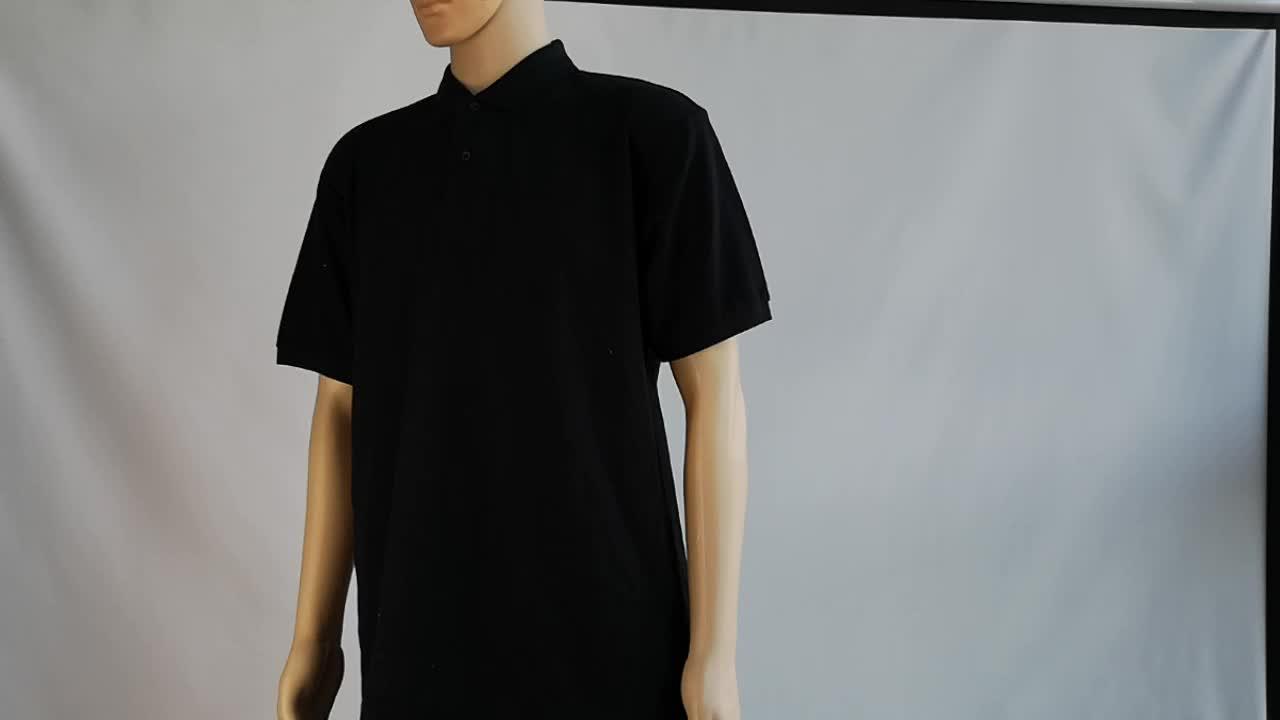 100% algodón de alta calidad de 12 colores de impresión personalizado bordado del logotipo del OEM llano en blanco hombres polo t camisa de polo
