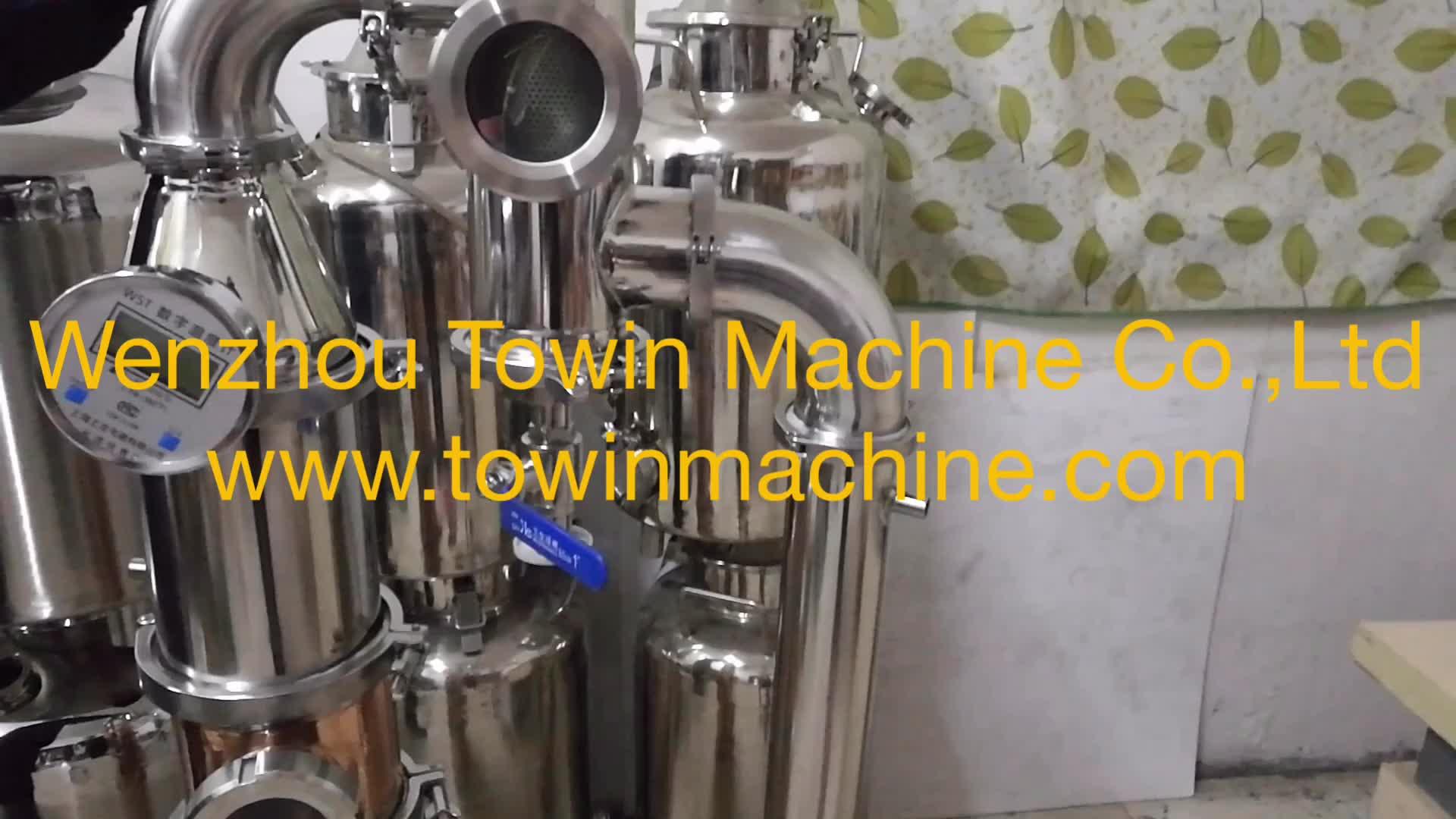 इस्तेमाल किया शराब अभी भी 200 गैलन चांदनी तांबा वानजाउ मशीनरी स्तंभ जिन शराब खींचनेवाला 200l वोदका आसवनी के लिए बिक्री