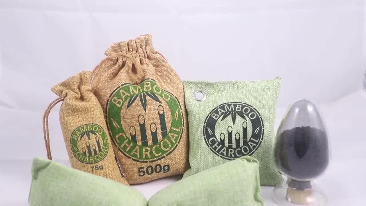 200g Armadio Attivo di Bambù del Sacchetto del Carbone di legna Purificatore