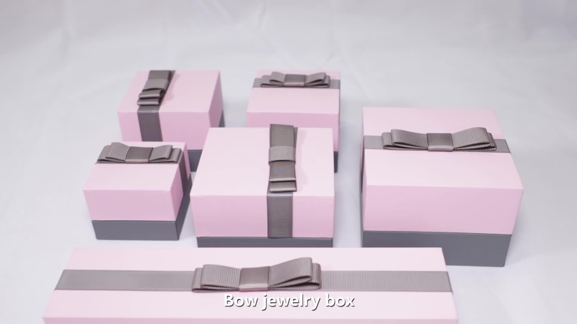 Commercio all'ingrosso Dei Monili Scatola di Imballaggio Su Misura Dei Monili Contenitore di Regalo con il Logo