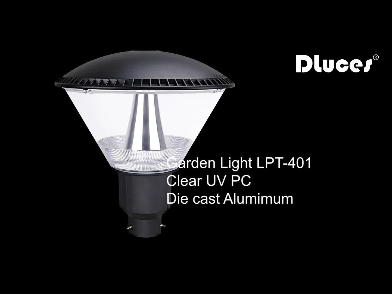 Al aire libre LED lámpara de jardín puestos superior decorativo luz iluminación para jardín