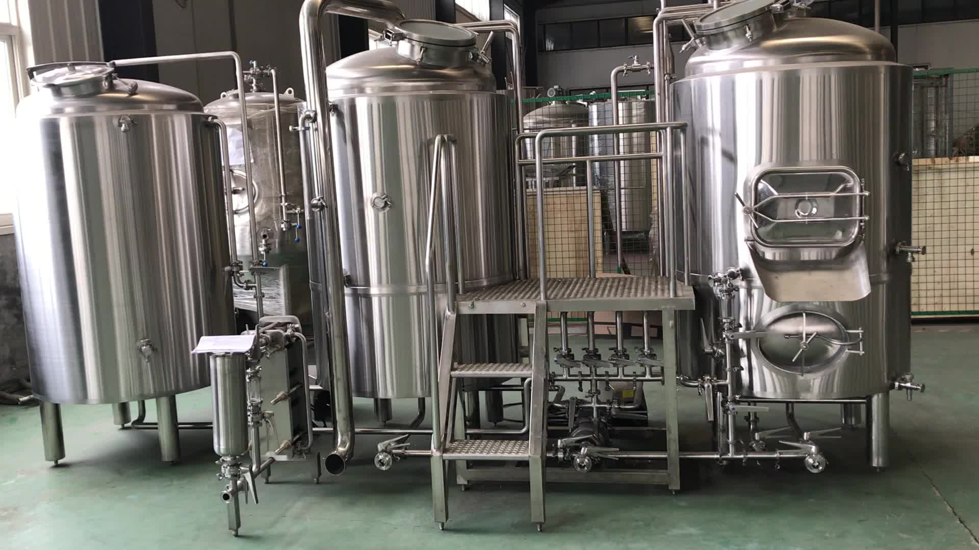 300L 500L/5bbl commercial beer brewing system craft brewing system brew kettle for pub brewery