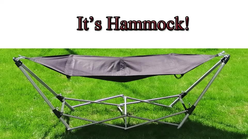 Portable Outdoor Garden Heavy Duty Folding Camping Free Standing Hammock with Stands Cheap