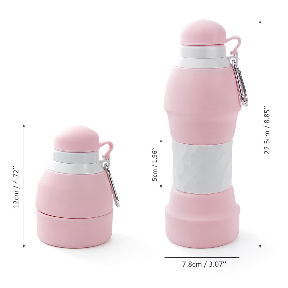 Wholesale 580ml Collapsible Water Bottle for Outdoor Durable Sports Silicone Water Bottle