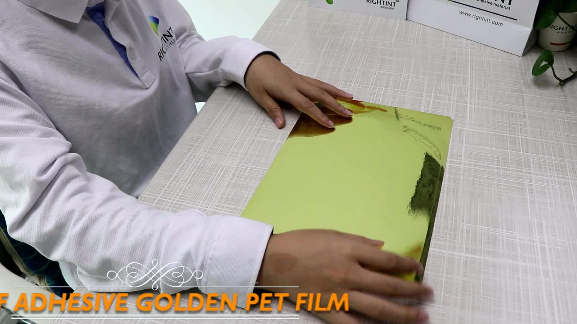 Geen Gif Spiegel Goud Huisdier Zelfklevende Folie Papier Printable
