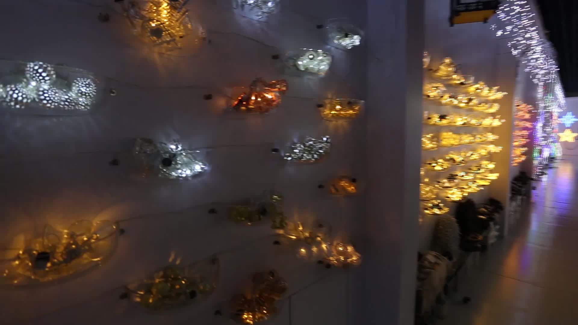 Outdoor led christmas star night string light
