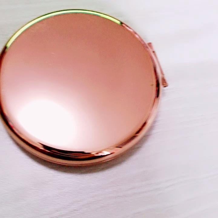 איפור מיני מראה מתכת כיס מראה מתכת איפור מראה