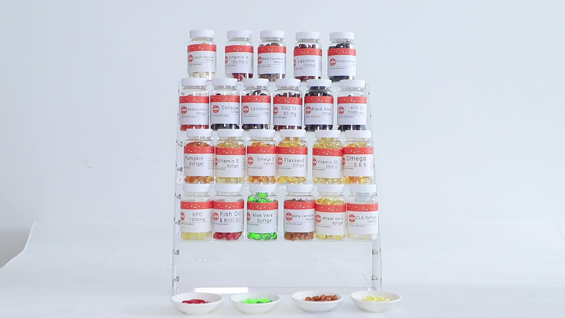 Private Label Multi Vitamine Haar Huid Nagels Vitaminen Softgel Capsules