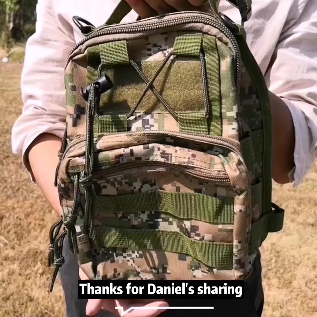 Outdoor Range Verpakking Kleine Rugzak Militaire Wandelen Molle Een Schouder Sling Borst Tactische Zak