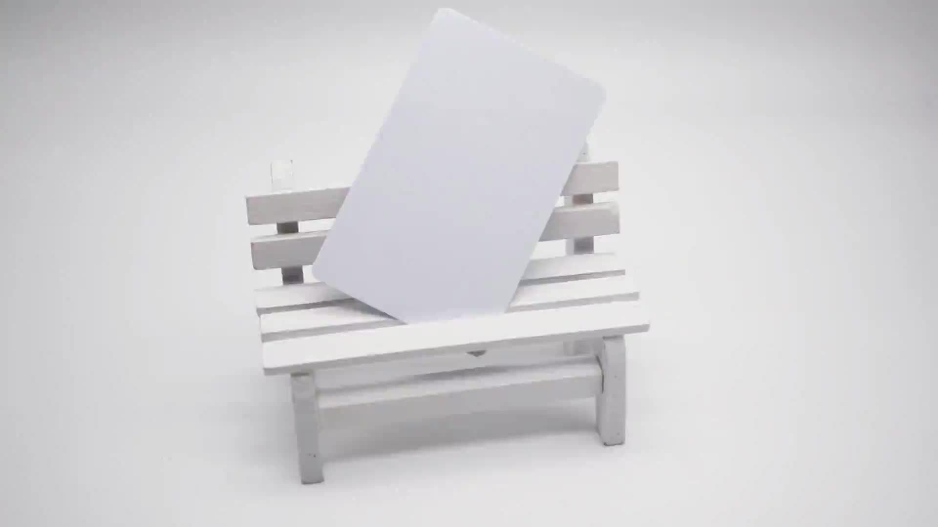 Custom Printable White Rfid Cards ISO 125khz TK4100 Custom ID Card