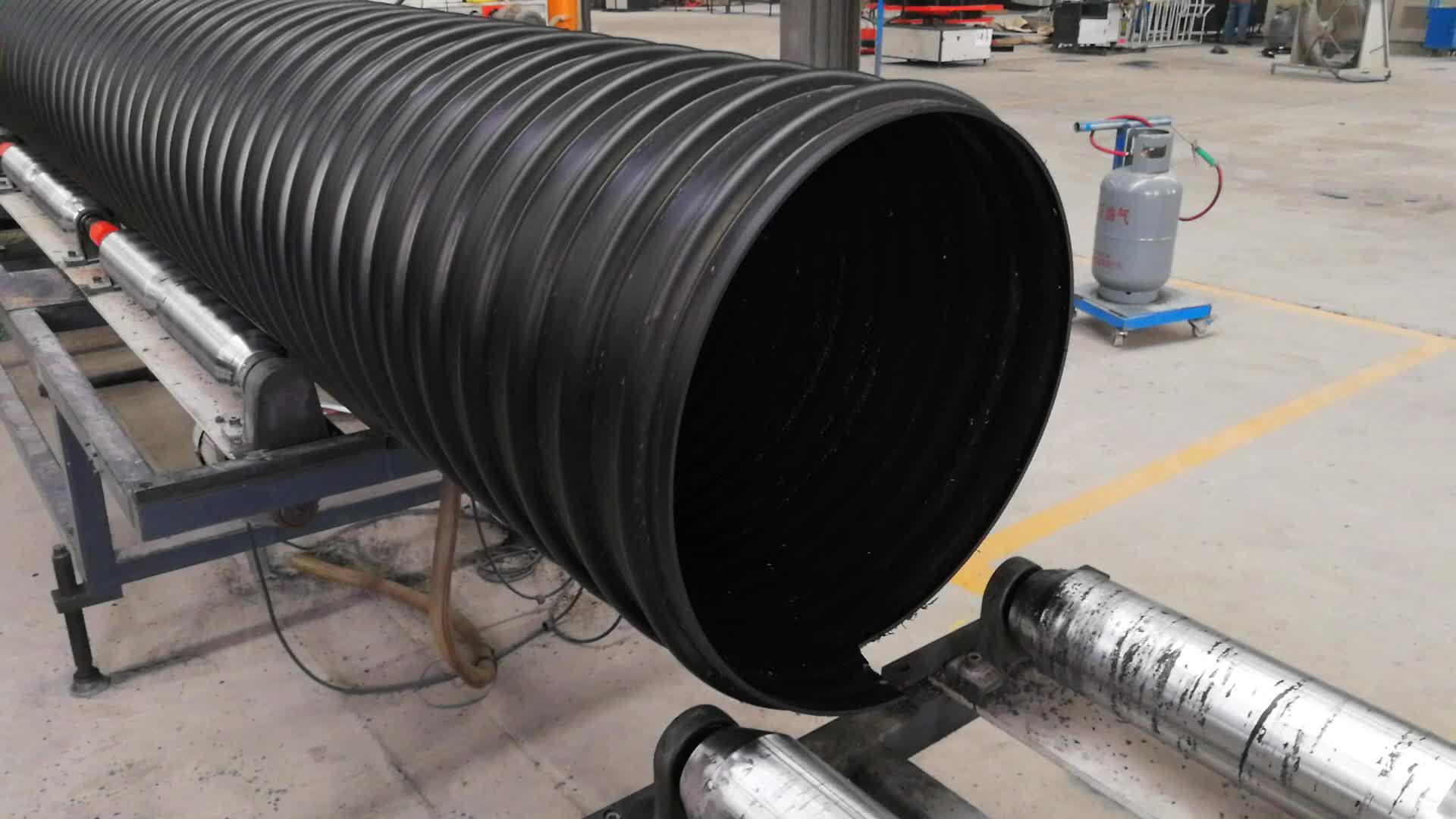 DN800mm HDPE  Steel  belt reinforce Pipe