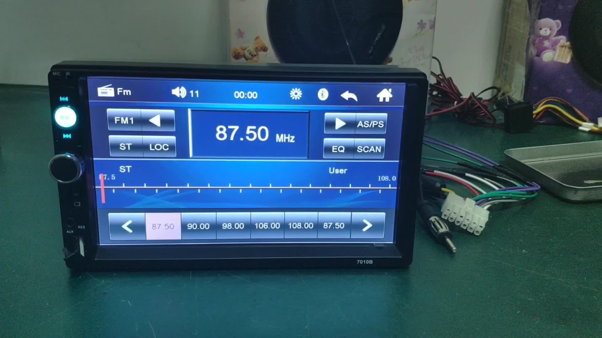 Bluetooth タッチスクリーン MP4 MP5 プレーヤーカーラジオステレオヘッドダブル 2 DIN
