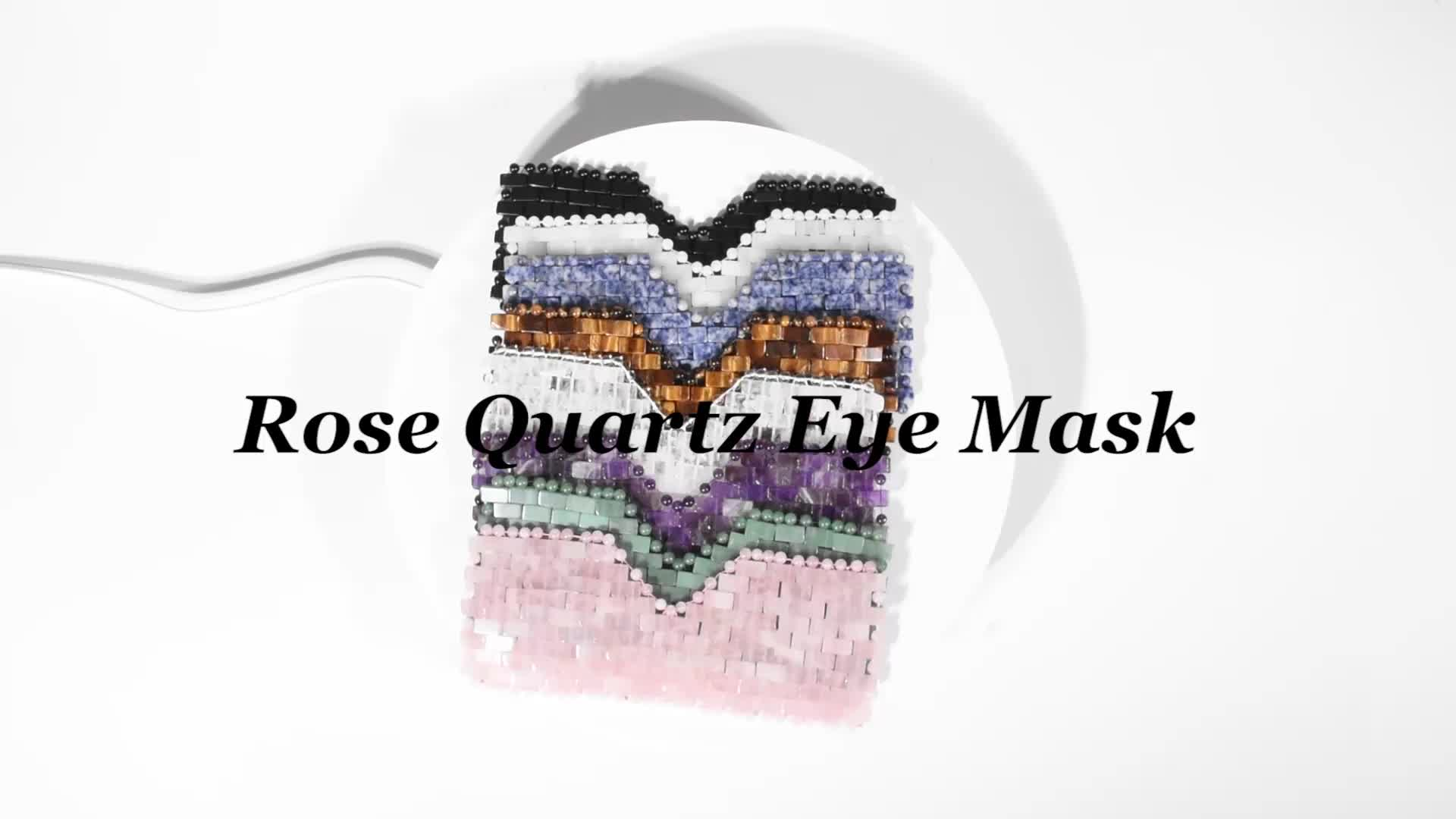 Refroidissement Naturel du visage améthyste Quartz Rose Jade Sommeil Masque pour les yeux Pour les yeux