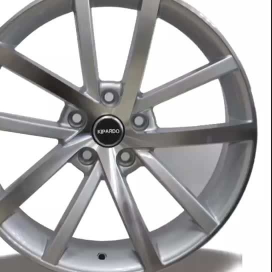 silver full painting 18x8 5x112 OEM replacement mags alloy car wheels for germany cars