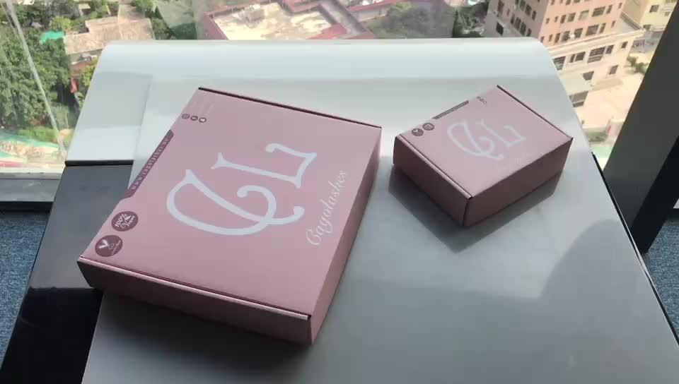 कस्टम लोगो Foldable नालीदार बोर्ड शिपिंग मेलर बॉक्स कॉस्टयूम पोशाक बरौनी पैकेजिंग चलाओ के लिए परिधान उपहार बॉक्स कागज बॉक्स