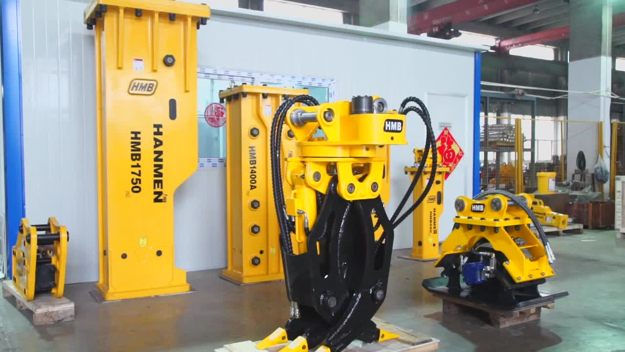 Montage Bagger Ersatzteile Hohe Qualität Hydraulische Rotierenden Greifer für Verkauf