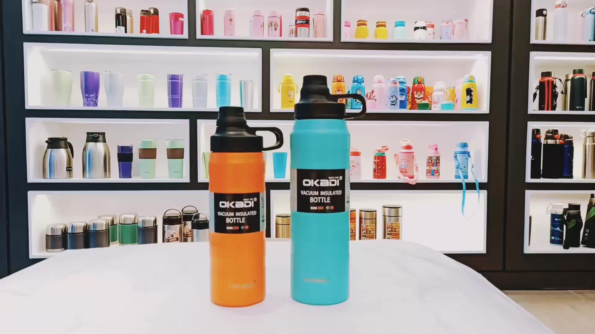 Blau Schwarz Silber Isolierte Doppel Wand Wasser Flasche, Amazon Top Verkäufer 2019 Bpa Frei Edelstahl Vakuum Glaskolben