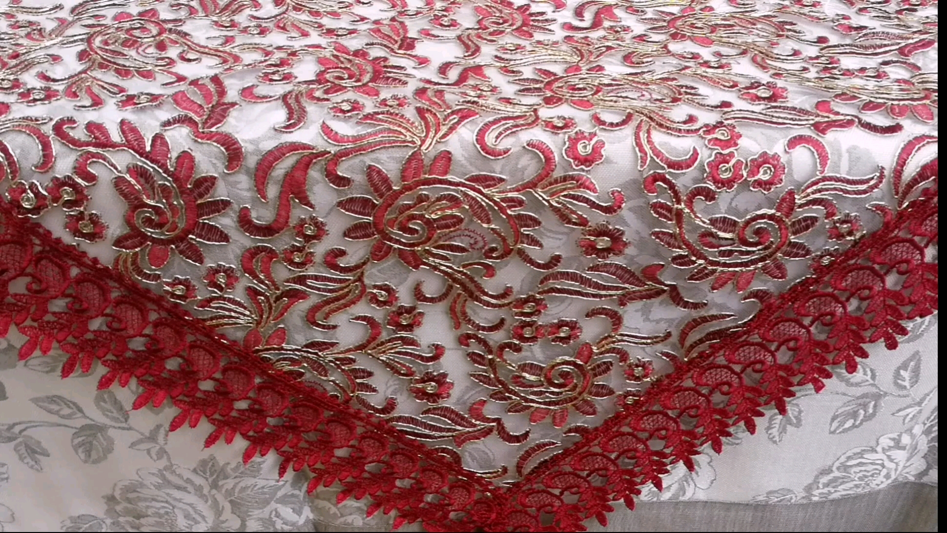 Rose Gold Silver Sequin table cloth for Fancy Luxury Party Round Wedding Sequin Table Overlay